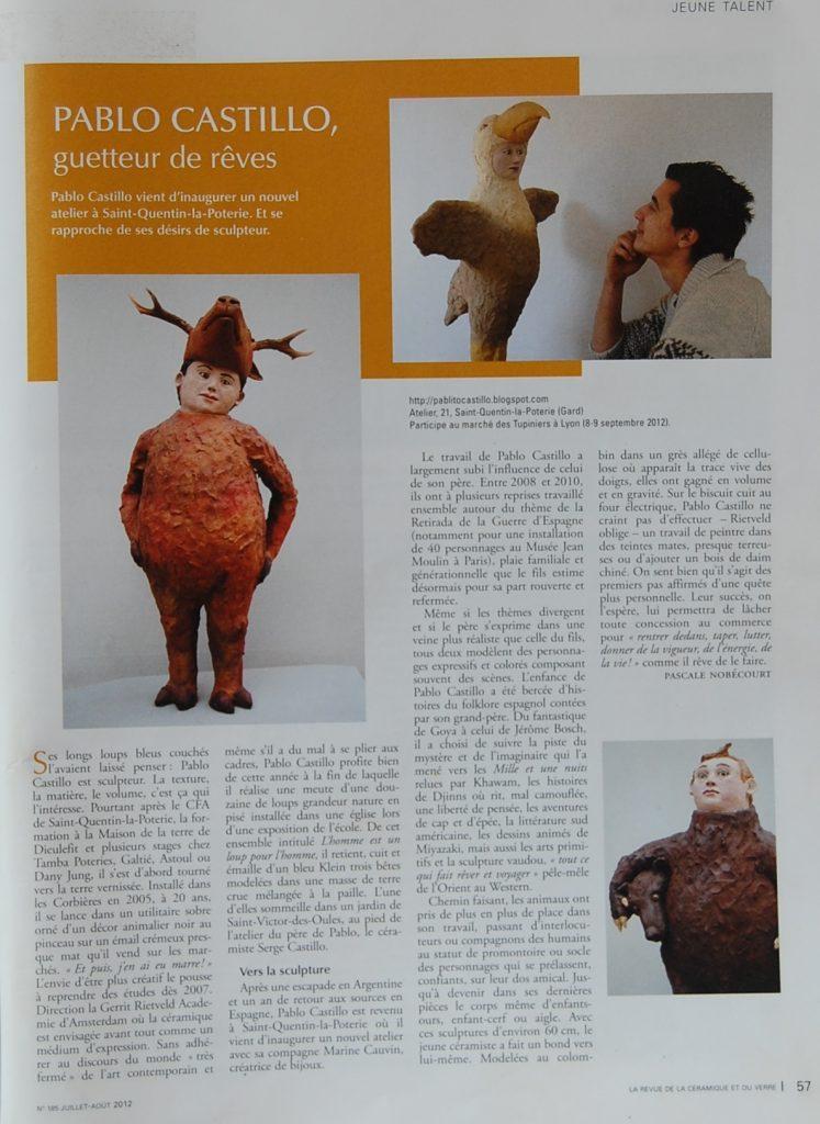 article la revue de la ceramique et du verre summer 2012